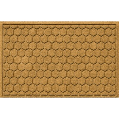 Finnerty Honeycomb Doormat Color: Gold
