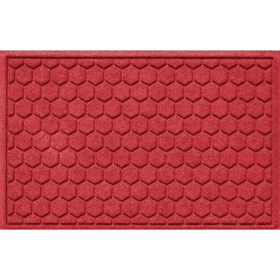 Finnerty Honeycomb Doormat Color: Solid Red