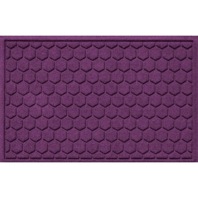 Aqua Shield Honeycomb Doormat Color: Purple