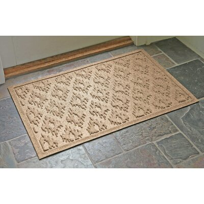 Aqua Shield Ikat Doormat Color: Camel, Rug Size: Rectangle 22 x 31