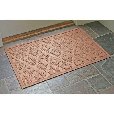 Aqua Shield Ikat Doormat Color: Medium Brown, Rug Size: 22 x 31