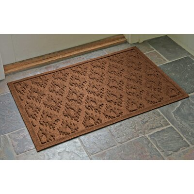 Aqua Shield Ikat Doormat Color: Dark Brown, Rug Size: Rectangle 22 x 31