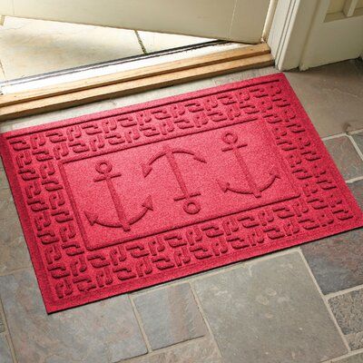 Conway Ahoy! Doormat Color: Solid Red