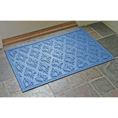 Aqua Shield Ikat Doormat Color: Medium Blue, Rug Size: 22 x 31