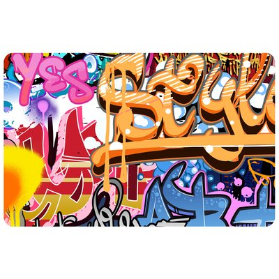 Fo Flor Graffiti Fun Doormat Mat Size: Rectangle 111 x 3