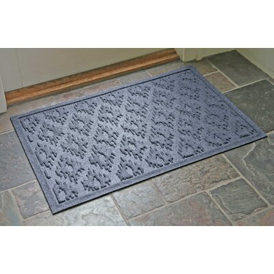 Aqua Shield Ikat Doormat Color: Bluestone, Rug Size: Rectangle 22 x 31