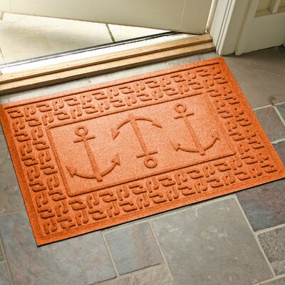 Aqua Shield Ahoy! Doormat Color: Orange