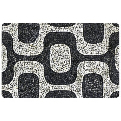 Fo Flor Modern Mosaic Doormat Rug Size: Rectangle 111 x 3