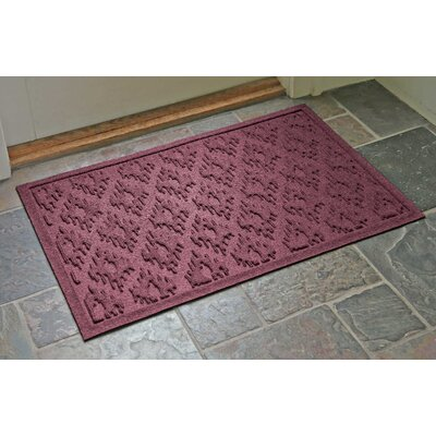 Aqua Shield Ikat Doormat Color: Bordeaux, Rug Size: Rectangle 22 x 31