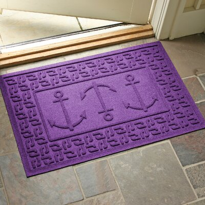 Aqua Shield Ahoy! Doormat Color: Purple