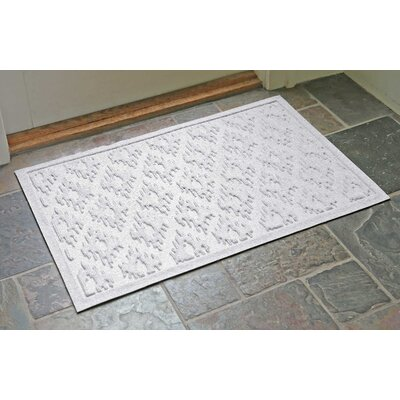 Aqua Shield Ikat Doormat Color: White, Rug Size: Rectangle 22 x 31
