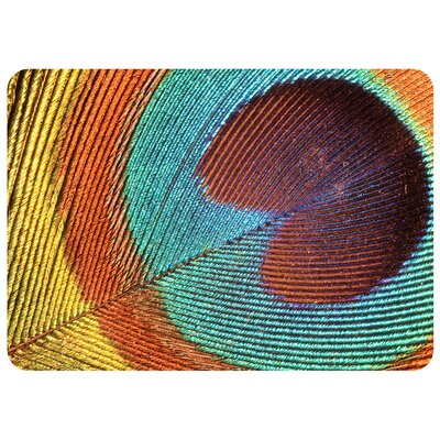 Kaden Peacock Feathers Doormat