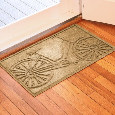 Conway Bicycle Doormat Color: Gold