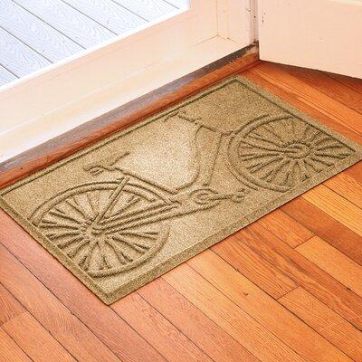 Conway Bicycle Doormat Color: Gold
