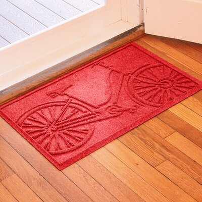 Conway Bicycle Doormat Color: Solid Red