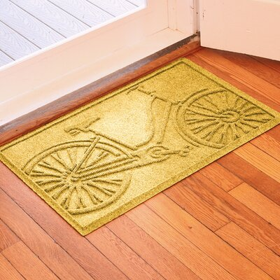 Aqua Shield Bicycle Doormat Color: Yellow