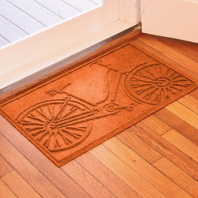 Aqua Shield Bicycle Doormat Color: Orange