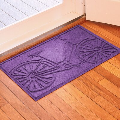 Aqua Shield Bicycle Doormat Color: Purple