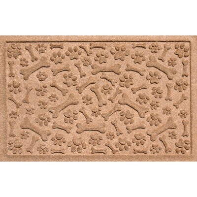 Aqua Shield Paw and Bones Doormat Color: Medium Brown
