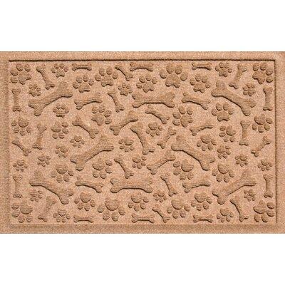 Conway Paw and Bones Doormat Color: Medium Brown