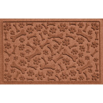 Conway Paw and Bones Doormat Color: Dark Brown