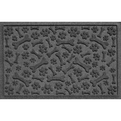 Aqua Shield Paw and Bones Doormat Color: Charcoal