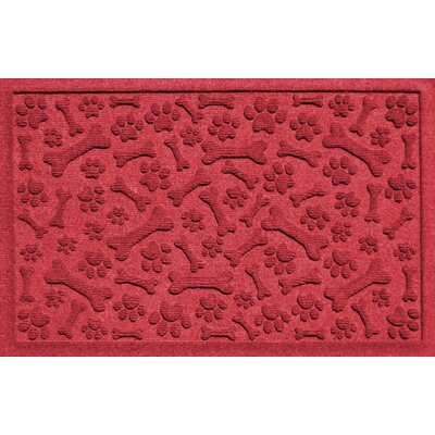 Conway Paw and Bones Doormat Color: Red