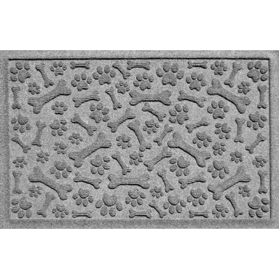 Aqua Shield Paw and Bones Doormat Color: Medium Gray