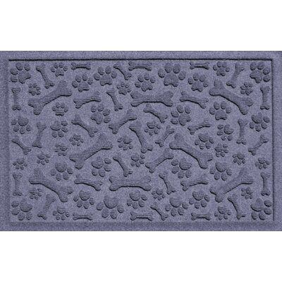 Conway Paw and Bones Doormat Color: Bluestone
