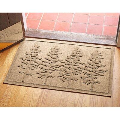 Aqua Shield Fir Forest Doormat Color: Camel