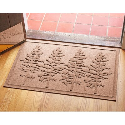 Aqua Shield Fir Forest Doormat Color: Medium Brown