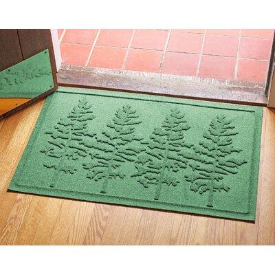 Aqua Shield Fir Forest Doormat Color: Light Green