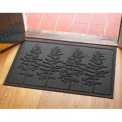 Aqua Shield Fir Forest Doormat Color: Charcoal