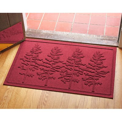 Aqua Shield Fir Forest Doormat Color: Red