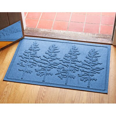 Aqua Shield Fir Forest Doormat Color: Medium Blue