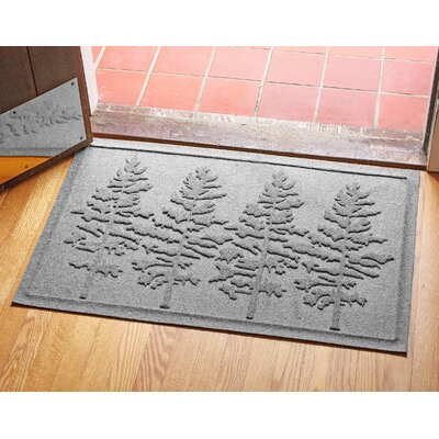 Aqua Shield Fir Forest Doormat Color: Medium Gray