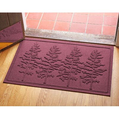 Aqua Shield Fir Forest Doormat Color: Bordeaux