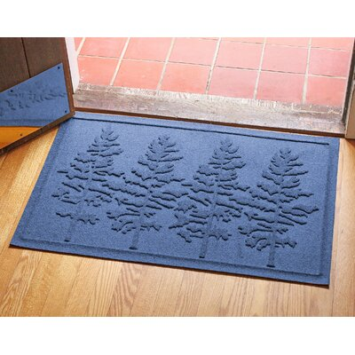 Aqua Shield Fir Forest Doormat Color: Navy