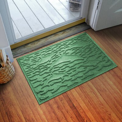 Aqua Shield Statement of Porpoise Doormat Color: Light Green