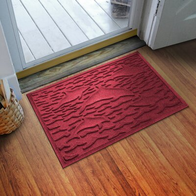 Aqua Shield Statement of Porpoise Doormat Color: Red