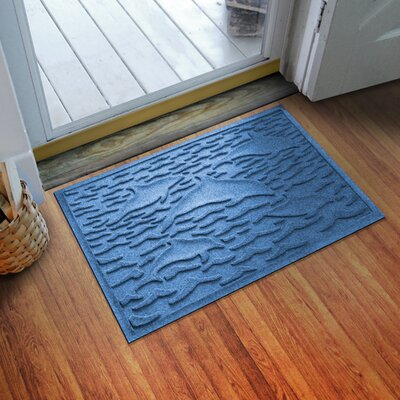 Aqua Shield Statement of Porpoise Doormat Color: Medium Blue
