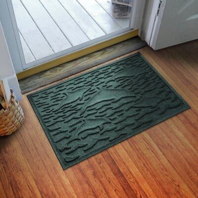 Aqua Shield Statement of Porpoise Doormat Color: Evergreen