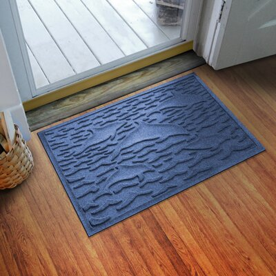 Aqua Shield Statement of Porpoise Doormat Color: Navy