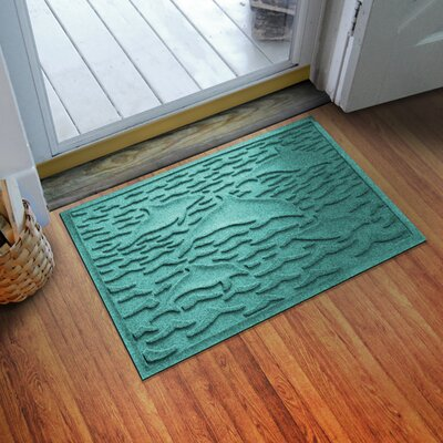 Aqua Shield Statement of Porpoise Doormat Color: Aquamarine