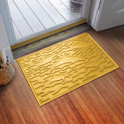Conway Statement of Porpoise Doormat Color: Yellow