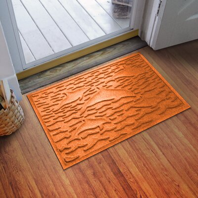 Conway Statement of Porpoise Doormat Color: Orange