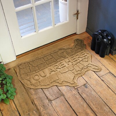Aqua Shield USA Map Doormat Color: Gold