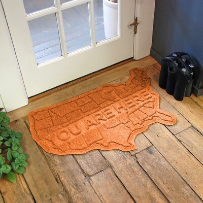 Aqua Shield USA Map Doormat Color: Orange