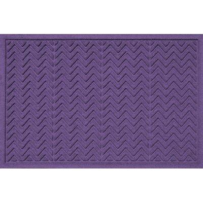 Aqua Shield Chevron Doormat Rug Size: 2' x 3', Color: Purple