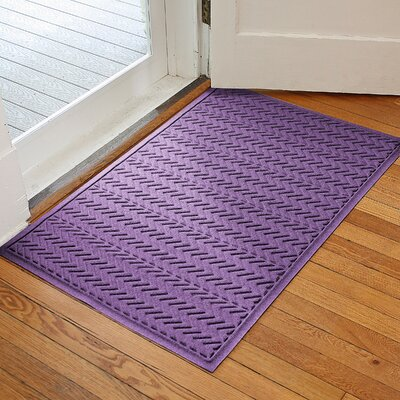 Harding Chevron Doormat Rug Size: 2' x 3', Color: Purple